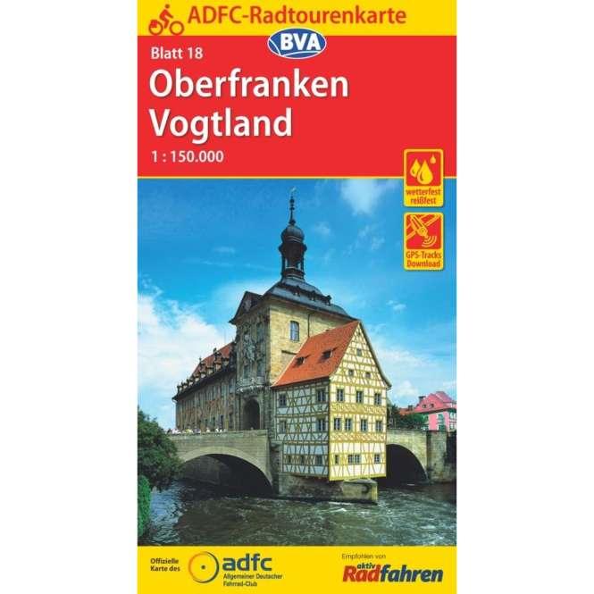 BVA BikeMedia Oberfranken / Vogtland Fahrradkarte