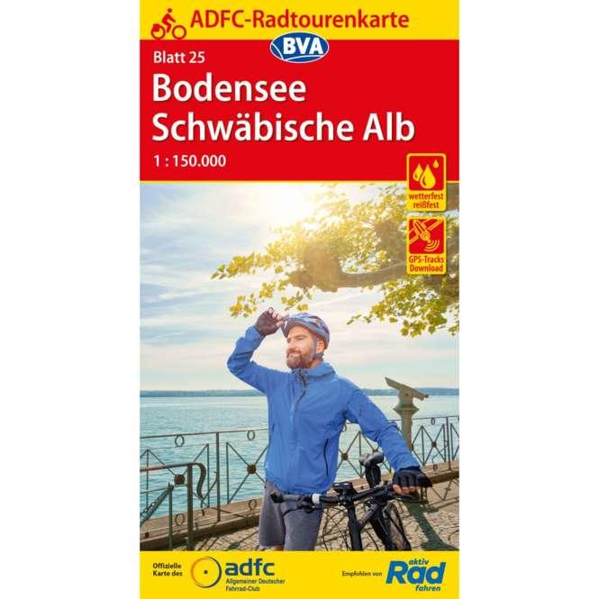 BVA BikeMedia ADFC Fahrradkarte Bodensee / Schwäbische Alb