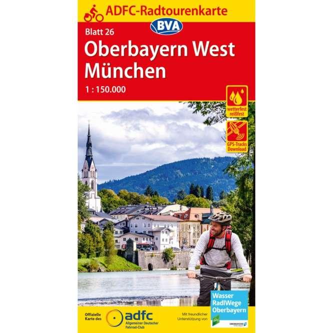 BVA BikeMedia Oberbayern West / München Fahrradkarte
