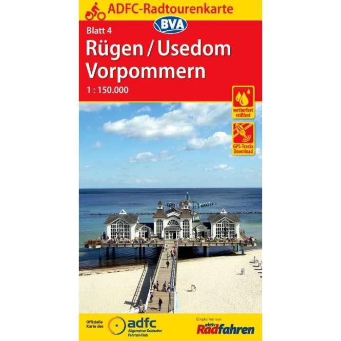 BVA BikeMedia Rügen / Usedom / Vorpommern Fahrradkarte