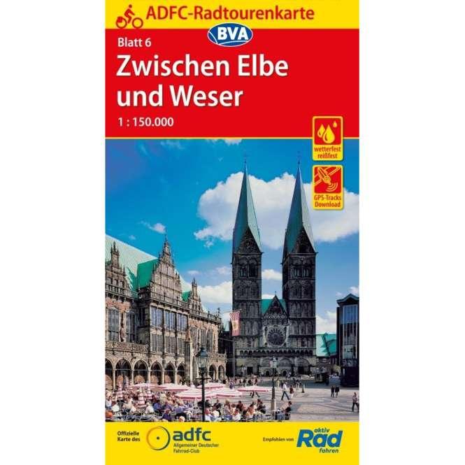 BVA BikeMedia Zwischen Elbe und Weser Fahrradkarte