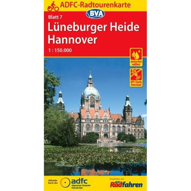 BVA BikeMedia Lüneburger Heide / Hannover Fahrradkarte
