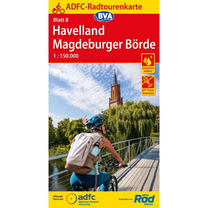 BVA BikeMedia Havelland / Magdeburger Börde Fahrradkarte