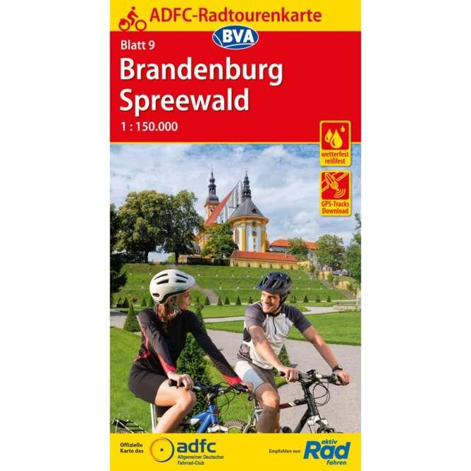 BVA BikeMedia ADFC-Radtourenkarte 9 Brandenburg Spreewald