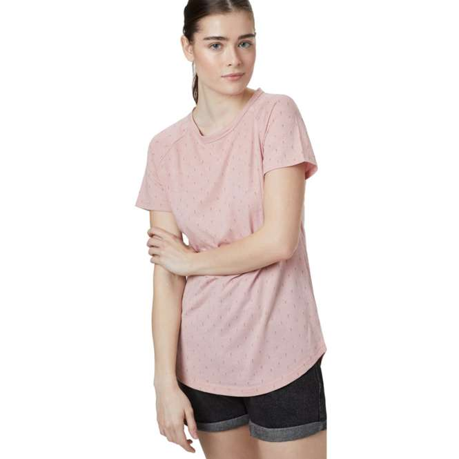 Tentree Women's Tree Print Raglan T-Shirt - quarz pink heater-small tree | M