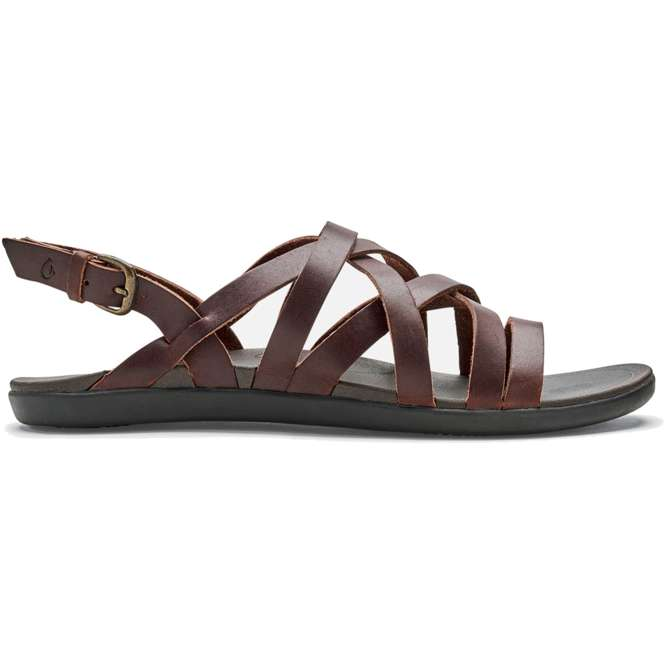 OluKai 'Awe'Awe Sandale Women - dark java/dark java | US 9,0