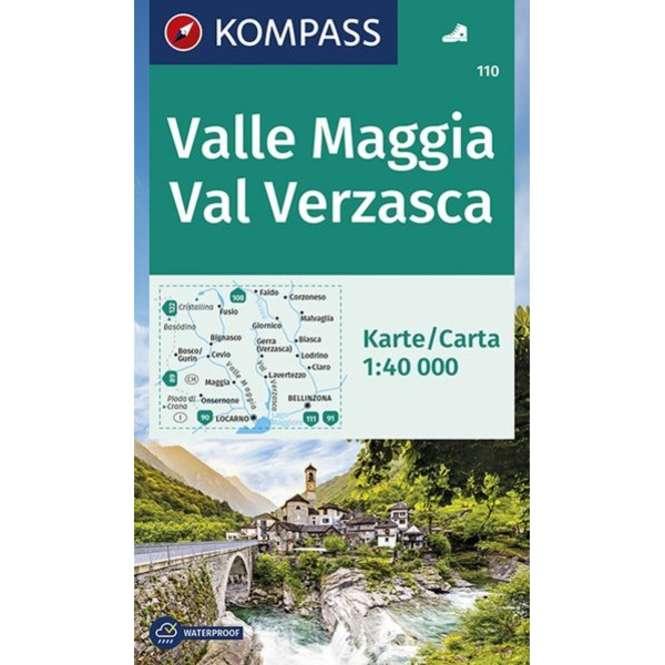 Kompass-Verlag Wanderkarte Valle Maggia - Val Verzasca