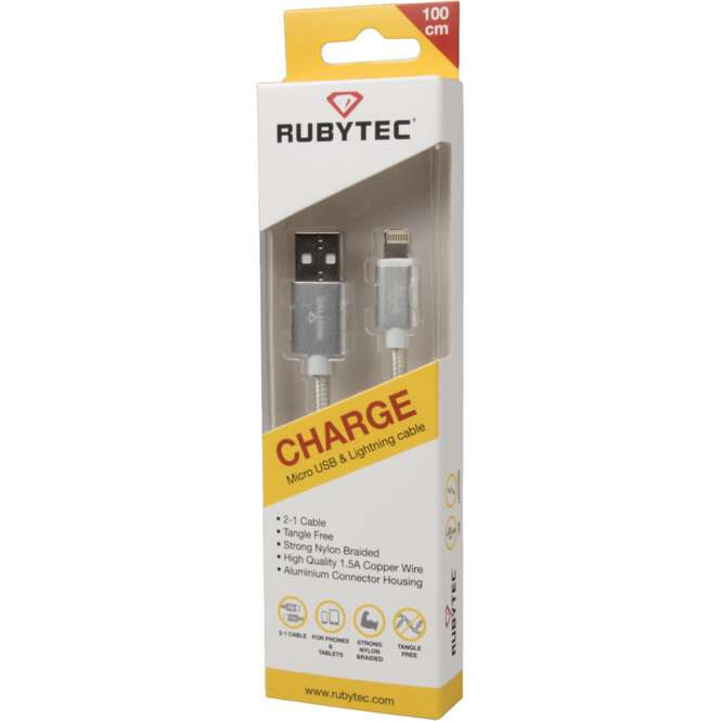 Rubytec Charge Micro USB / Lightning Kabel im Camp4 Outdoor Shop ...