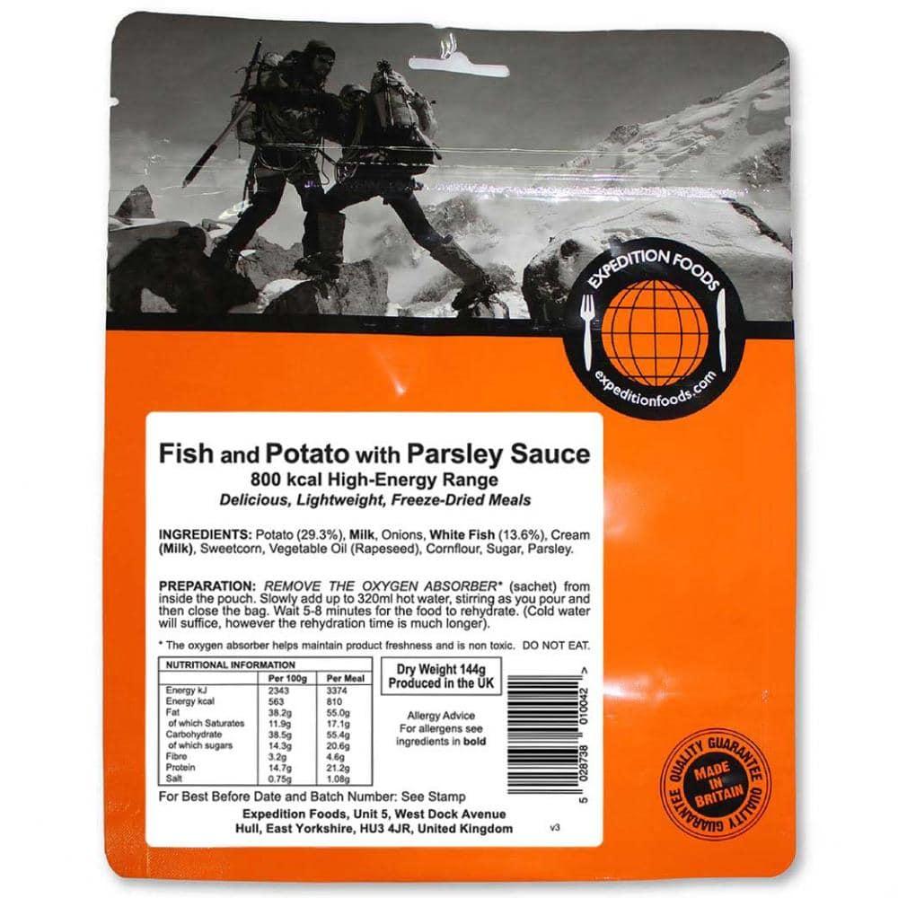 Kartoffel Kcal expedition foods fisch mit kartoffel und petersiliensoße 800 kcal