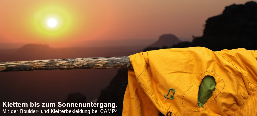 Banner E9 Kletterbekleidung