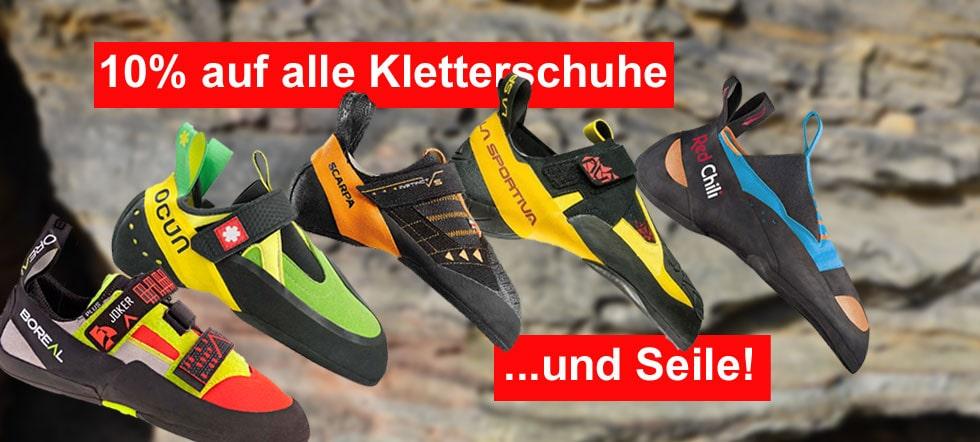 Banner 10%Kletterschuhe+Seile