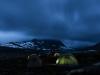 Ein Zelt hielt dem Sturm in der Nacht leider nicht stand. ©Helsport