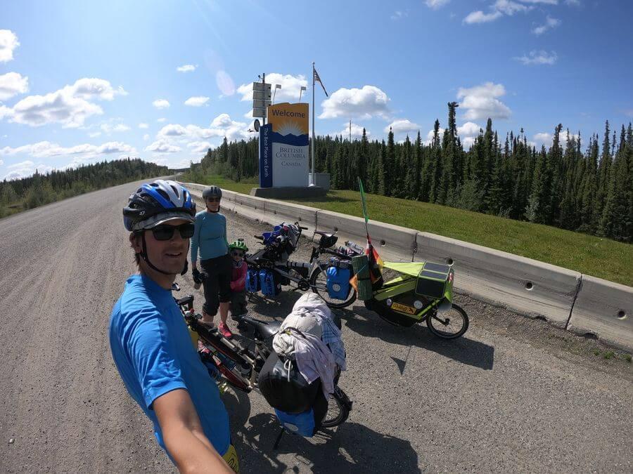 Fahrrad Familie Outdoor - angekommen in British Columbia