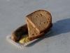 Die Brötchen waren alle, also gab's Brot
