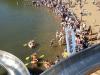 Wohl das Highlight für viele Besucher - das Pappbootrennen,