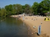 Das Wetter machte es möglich, schon am frühen Morgen gingen die ersten ins Wasser.