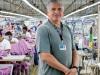 Arbeiter in der Hong Ho Fabrik in der Patagonia Fleece gefertigt werden und Fair Trade zertifiziert sind (Valladolid, Mexico).