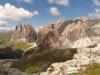 Blick Richtung Geislerspitzen vom Ende des Piz Duleda-Klettersteigs