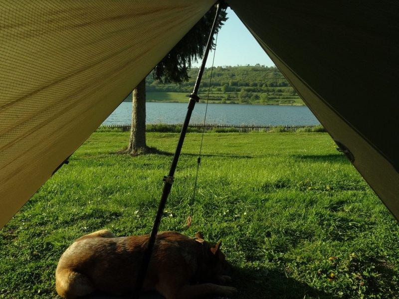 Campingromantik am Schalkenmehrer Maar
