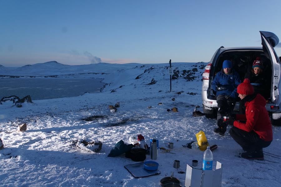 Im Winter ist Camping so gut wie überall möglich