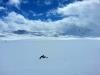 Schnee und Wolken