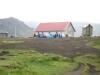 Island Álftavatn - einige versuchten im Schutz der Hütte die Zelte aufzubauen