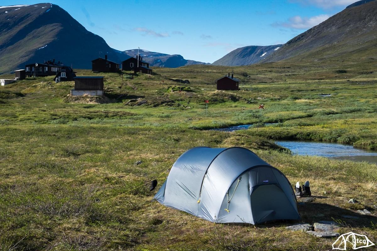 Lappland: Unser Camp außerhalb der Hütte Sälka