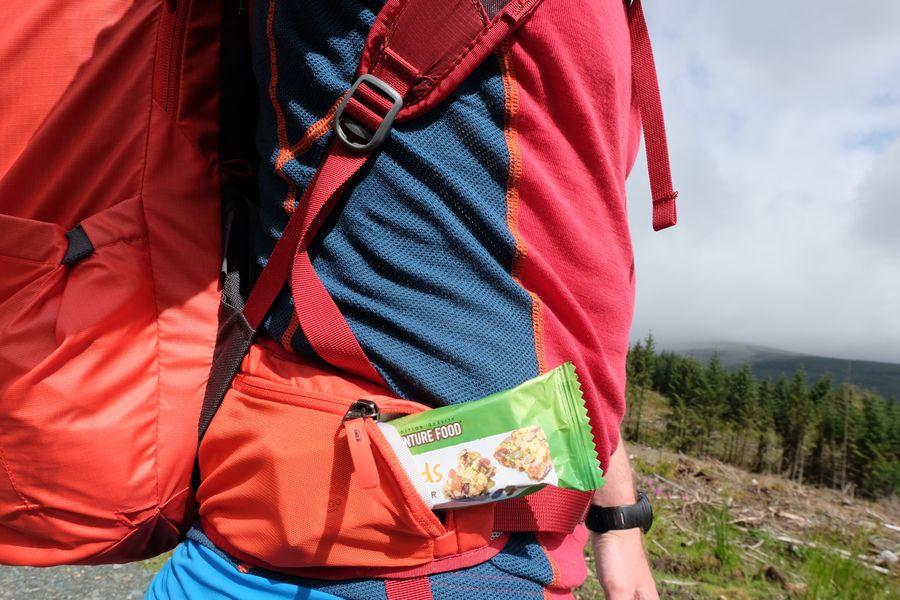 Praktische Seitentaschen an beiden Seiten des Hüftgurts.
