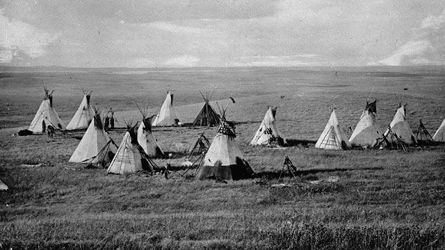Camp der Cree Ureinwohnern (1871)