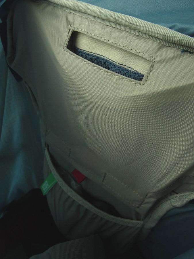 Die Trinksystemtasche ist für Dokumente zu schmal