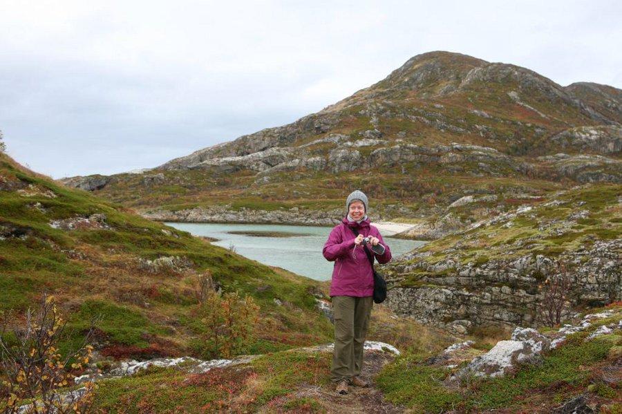 Katrin Klose in Norwegen auf Wandertour