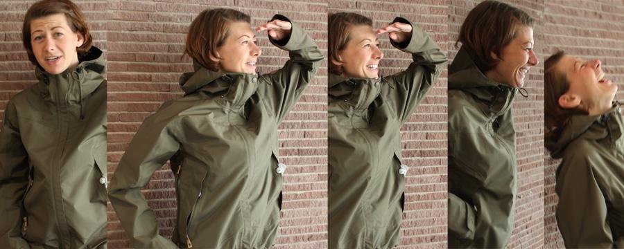 Janice traegt das Eco-Trail Jacket von Fjaellraeven.