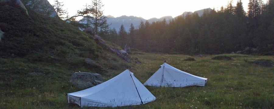 Tarptent: Mischung aus Tarp und Zelt. Foto: Ben