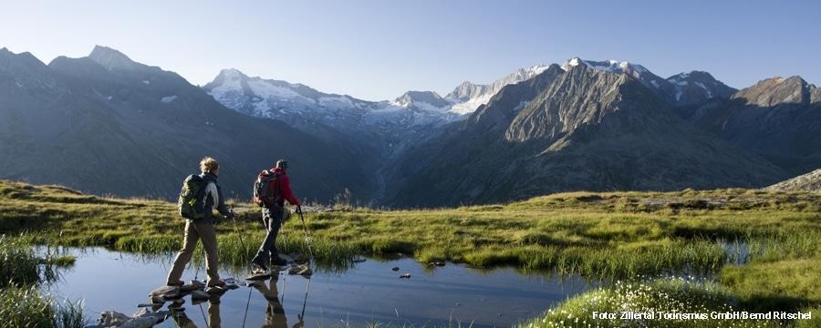 Auf dem Weg zur Olperer Huette. Foto: Foto: Zillertal Tourismus GmbH/Bernd Ritschel