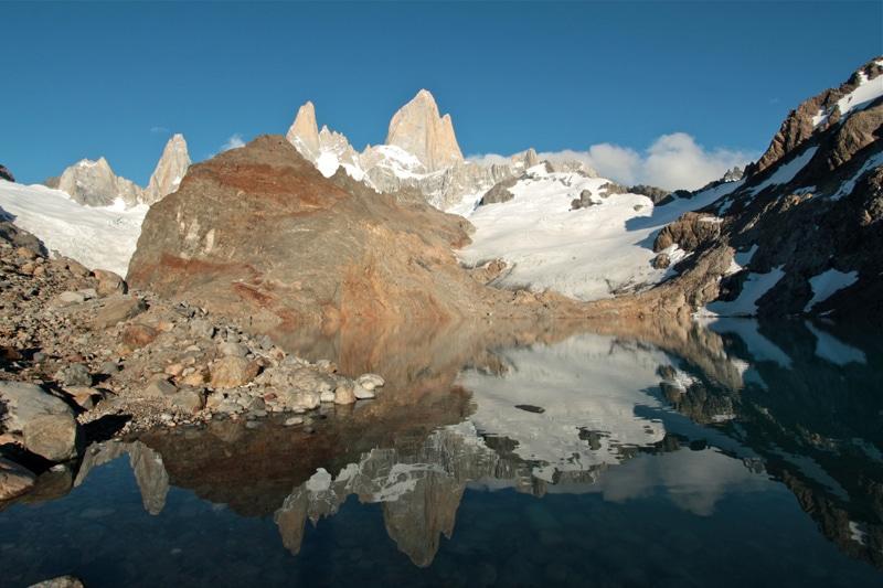 Patagonien berühmter Firtz roy. Hier bei Sonnenaufgang.