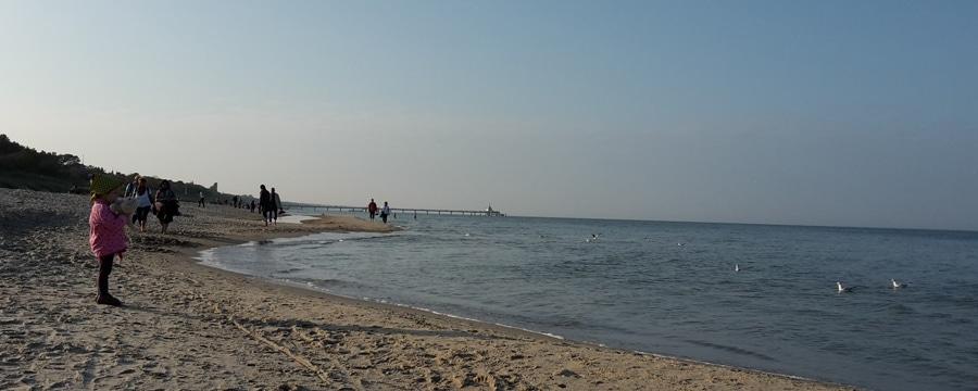 Voegel! Die Ostsee bei Zinnowitz auf Usedom. Foto: Robert Scheibe