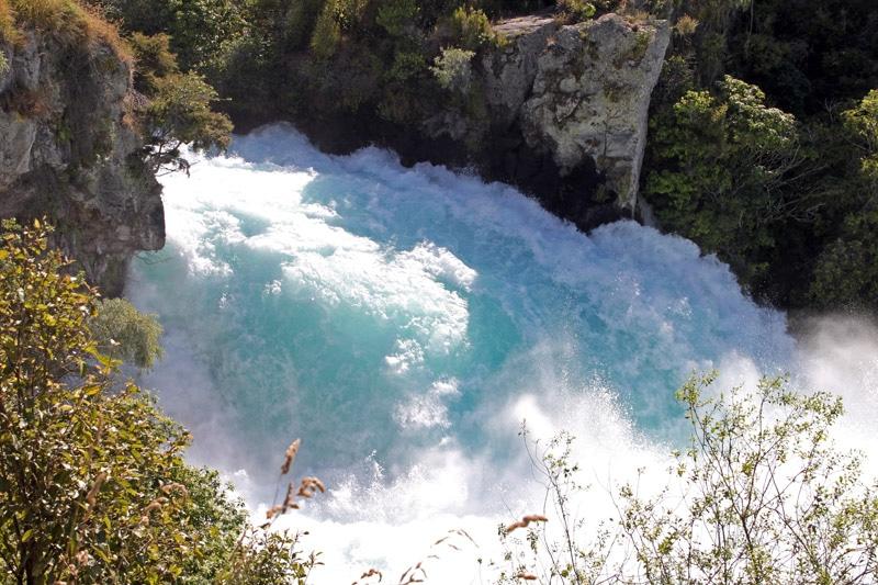 Tosender Wasserfall: Die Huka Falls. Alle Bilder: Birte privat
