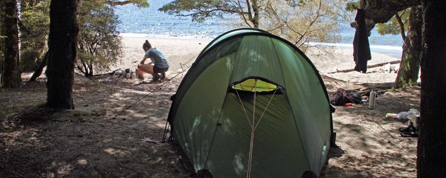 Am Kepler Track im Brod Bay Camp. Alle Bilder: Birte privat