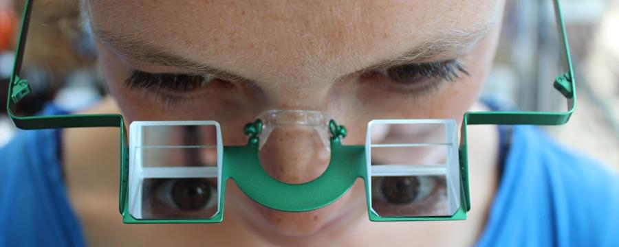 YY Sicherungsbrille gibt es im CAMP4 Berlin. Foto: CAMP4