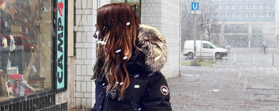 Mystique Parka: Canda Goose in Berlin. Foto: Canada Goose/Montage: CAMP4