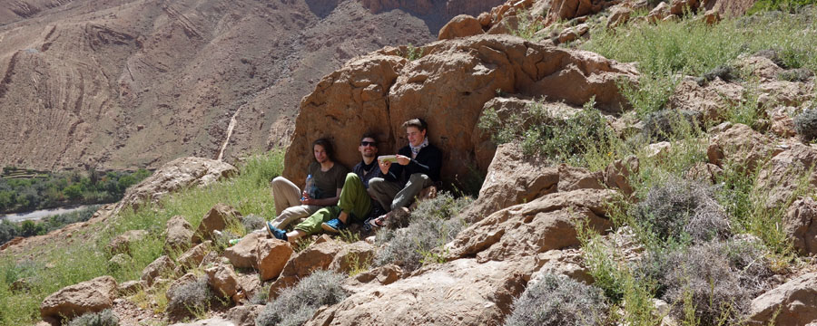 Klettern in Marokko: Es war warm in der Todraschlucht. Fotos: Juliane Gerhardt
