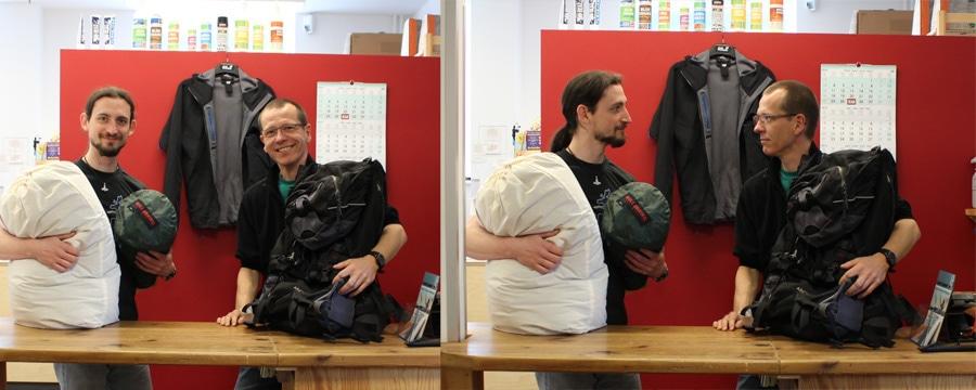 Fachkundige Hilfe gibt es im CAMP4 Servie bei Christopher und Kai. Foto: CAMP4