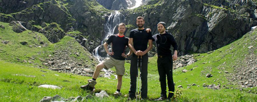Drei Wilde im rumänischen Fagaras
