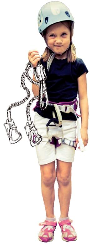 Kinder besser zusätzlich mit einem Seil nachsichern