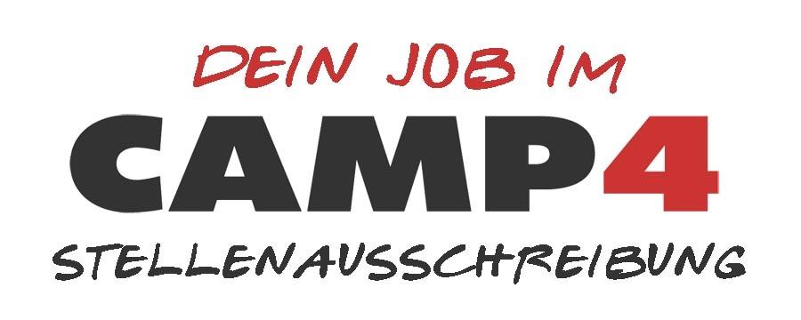 CAMP4 Stellenausschreibung Header