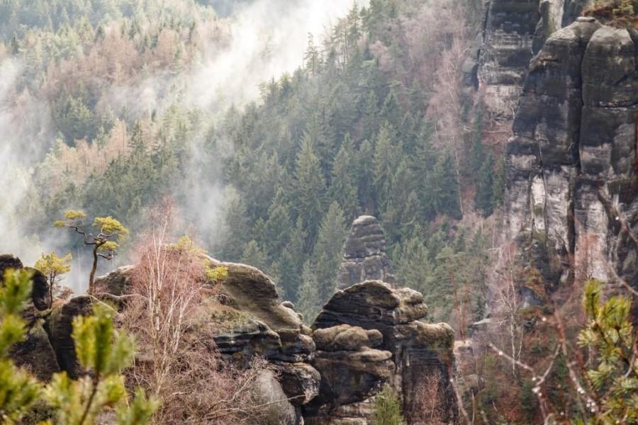 Fantastische Aussicht im Elbsandsteingebirge