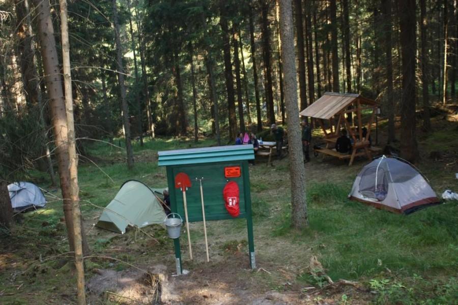 Biwakplatz am Forststeig. Bildquelle: Sachsenforst