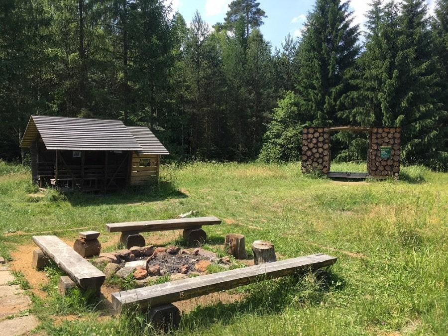 Taubenteich-Biwak mit Feuerstelle. Bildquelle: Sachsenforst
