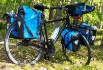Fahrradtaschen: hinten Back-Roller, vorne Sport-Roller